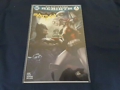 Batman #1 Nm Dc Rebirth Legacy Artgerm Colour 1St Print