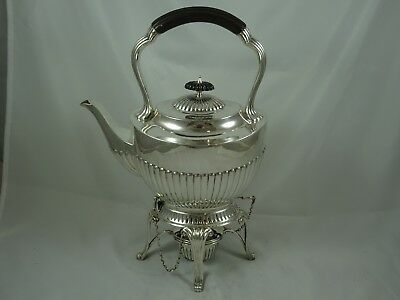 LARGE solid silver KETTLE ON STAND, 1901, 1092gm