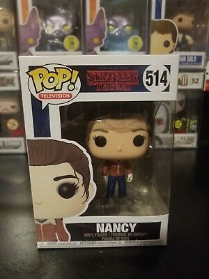 Funko Pop! Television Stranger Things Nancy #514 Vinyl Figure WITH PROTECTOR!