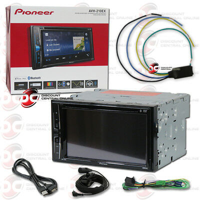 """New Pioneer Car Double Din 6.2"""" Touchscreen Usb Dvd Cd Bluetooth Stereo + Bypass"""
