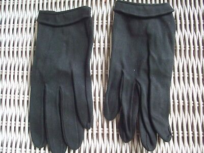 Cotton Christian Dior Black Gloves Lord & Taylor Size 6.5 Made in France