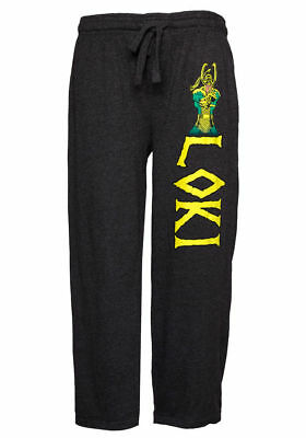 Sz Large - Loki Master of Mischief Name Body Print Marvel Pajama Lounge Pants