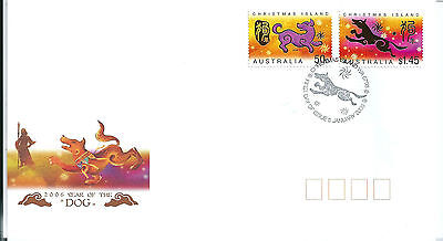 Christmas Island 2006 Year of the Dog FDC
