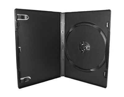 100 STANDARD Black Single DVD Cases 14MM