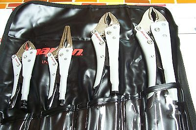 Snap On  4 Piece Combination Locking Pliers Set.