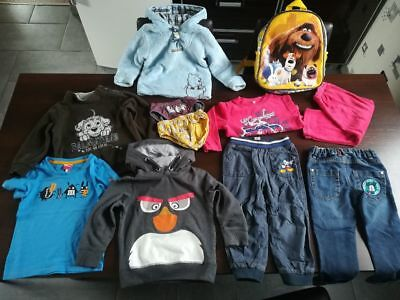 Lot Vêtements Garçon 2 /3 Disney C&A PUMA Sac à dos Angry Bird Mickey Dalmatians