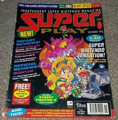 Super Play Magazine issue 1   superplay  snes super famicon retro game mag