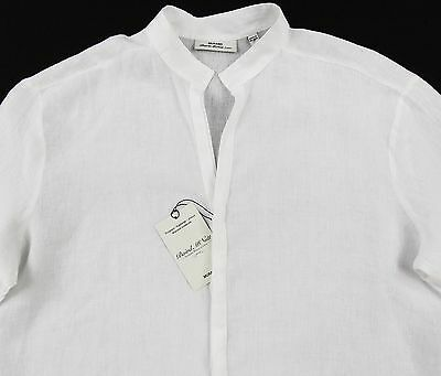 a9dc8c7ac861f MEN S MURANO WHITE Sexy Linen Shirt Medium M NEW NWT HOT!! -  46.99 ...