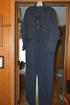 Men's Large Coveralls, Blue By Berne, Short, See Measurements Below