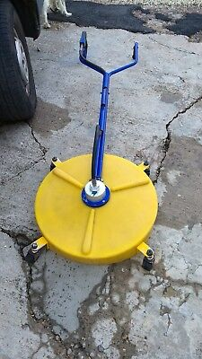 """rotary surface cleaner 22"""" base 20"""" arm on castors double handle."""