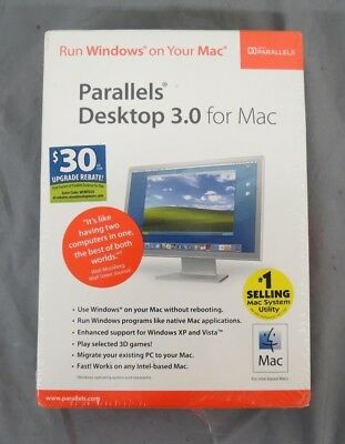 Parallels Desktop 3.0 Run Windows on Your Mac Computer NEW Fast Shipping LOOK