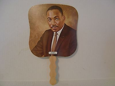 Vintage Pair Of Martin Luther King Fans From Mccall's Bronxwood Funeral Home N.y