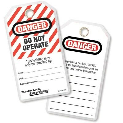"""Danger: Do Not Operate"" Lockout Tags LOTO12 pack with ties, Durable polyester"