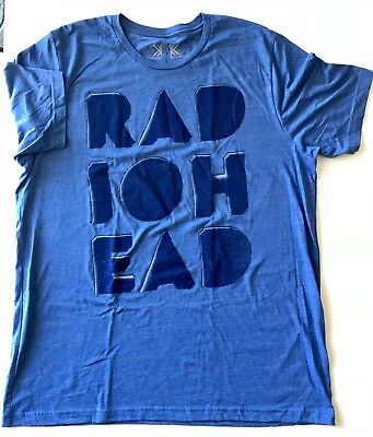 Radiohead t shirt 2018 tour large royal blue new concert