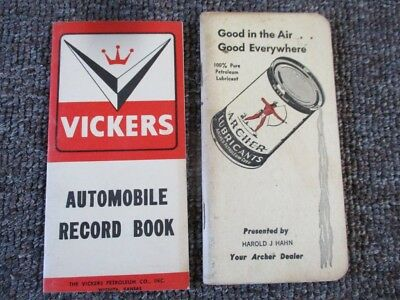 Vintage ARCHER OIL & VICKERS OIL Co. POCKET NOTEBOOKS
