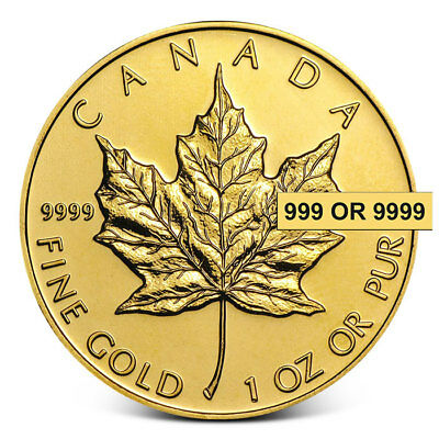 1 oz Canada $50 .999+ Fine Gold Maple Leaf Coin