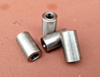 "4 pcs. Stainless Steel Unthreaded Spacers, 1/2"" OD, 3/4"" Long, for 1/4"" Screw"