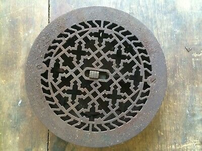 round cast iron floor grate register