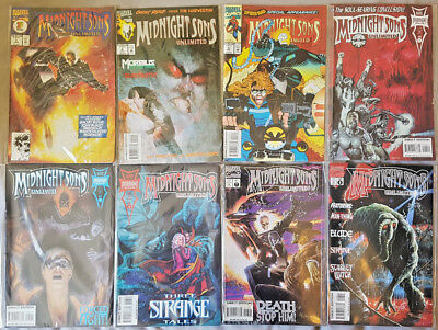 Midnight Sons Unlimited #1-8 Ghost Rider Morbius Man-Thing Strange Marvel Comics