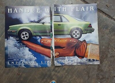 1981 print ad-Handle with flair-1982 LN7 from Lincoln-Mercury