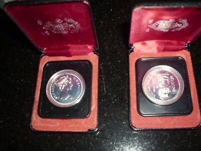 1974 Silver Issue Canadian Winnipeg Centennial Dollar (2 Silver Coins) + Box