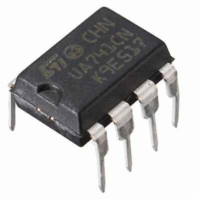 10Pcs UA741CN DIP-8 UA741 LM741 ST IC Chip Operational Amplifiers top