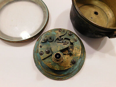 Antique Fusee Detent Marine Chronometer By Gf Webb. For Spare Parts Use