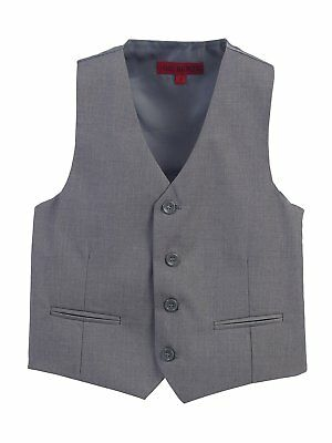 Boys Formal Vest Suits Wedding Toddler Kids Gray Black Navy Boy Size 2T-20 New
