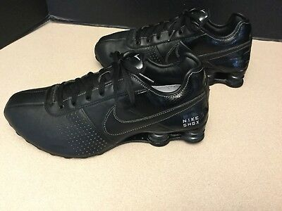 new product 5c169 9d488 Mens Nike Shox Deliver Black Leather Running Shoes. Size 9.5. Nice Shoes!