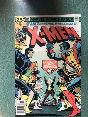 The X-Men #100 (Aug 1976, Marvel) Old X-Men Vs. New X-Men