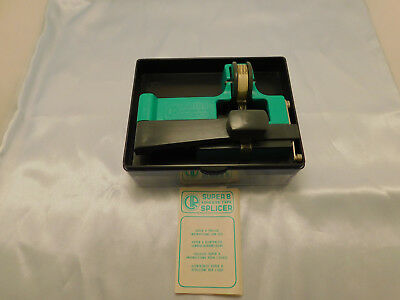 Vintage Ciro Super 8mm Guillotine Film Splicer With Case Manual & Tape FREE SHIP