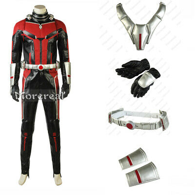 Ant-Man and the Wasp Trailer Cosplay Scott Lang Costume Bodysuit Vest Glove Belt