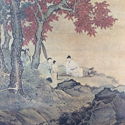 Exquisite old Chinese Painting Scroll MUSEUM PROVENANCE