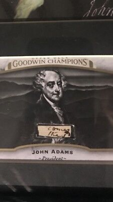 President John Adams signed cut from letter in card rare paper document auto