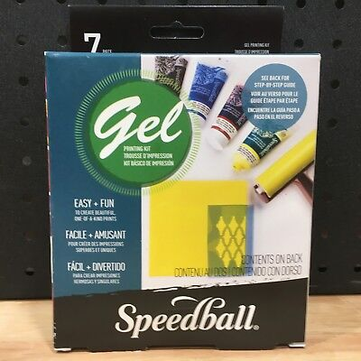 Speedball Gel Mono Print Starter Kit Multicolored - New - Rrp: $79