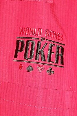 Men's Size XL World Series of Poker Game Shirt Red Gambling Las Vegas Casino SS