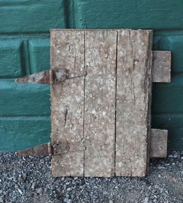 Old Wooden Barn Door with Hinges - Architectural Salvage - Dairy Farm Original