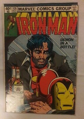 The Invincible Iron Man #128 Demon In A Bottle  Vf+ Please See Photo