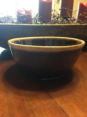 McCoy Brown Drip Pattern Glazed Round Serving Bowl McCoy Collection