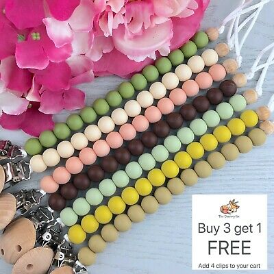 Dummy Clip - Pacifier Chain - Soother Holder - Baby Binky Band - Beaded Clips