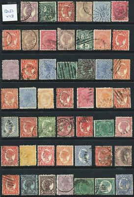 QUEENSLAND - QV Bulk Used Selection (Full Sheet) x 48 Stamps [6539]