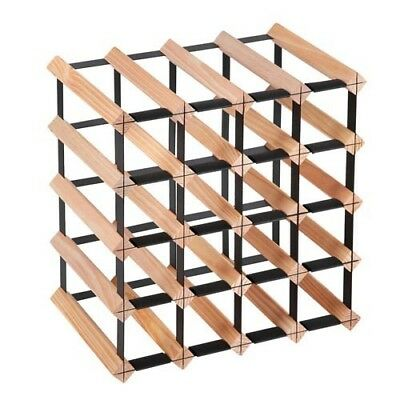 20 Bottle Timber Wine Rack Wooden Storage Cellar Vintry Organiser Stand @TOP