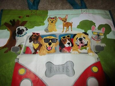 DACHSHUND - Bark Bus Pug Beagle Bulldog Dogs Reusable Shopping Bag Yorkie NEW
