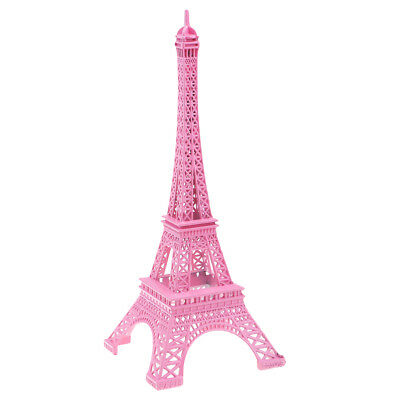 Retro Paris Eiffelturm Statue antike Figur Home Decor Metall rosa 25 cm