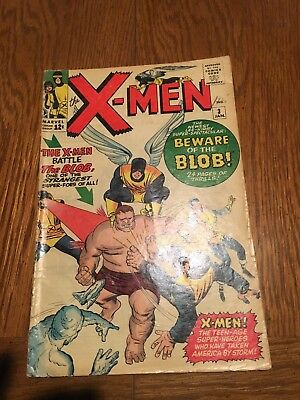 X-Men #3 (1964 Marvel Comics) 1st appearance of the Blob Silver Age NO RESERVE