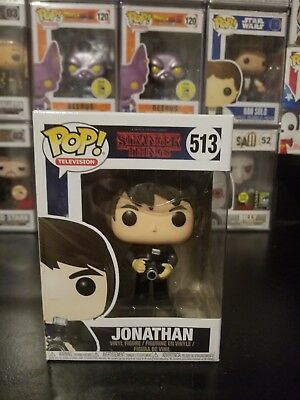 Funko Pop! Television Stranger Things Jonathan #513 Vinyl Figure WITH PROTECTOR!