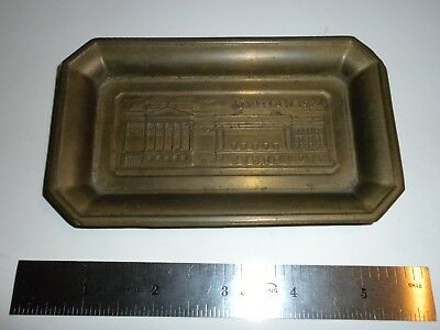 "Syrian, Syria, Brass Change Tray Dated 1924, 5.25"" by 3"""