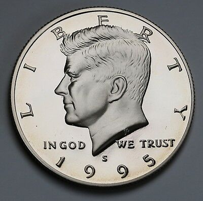 1995 S US Kennedy Half Dollar GEM Proof Coin Ultra Cameo KM# A202b
