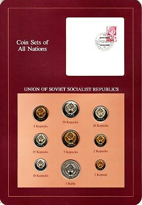 Russia USSR Coin Sets of All Nations 9 BU Coins Kopek - 1 Ruble 1979 Prooflike