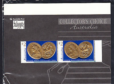 Australia 1999 SG 1881 $2 Perth Mint Centenary  MNH 2 Embossed Stamps